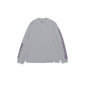 LOGO PRINTED SLEEVES SWEATSHIRT - GRAY