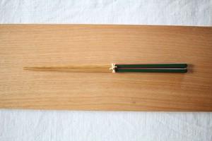 大内工芸|ダイヤカット研出箸(緑)