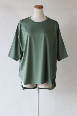 【SAYAKADAVIS】back dorman sleeve tee-l.green