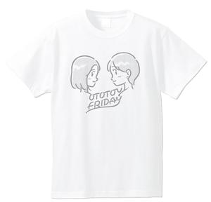 おとといフライデーイラストTシャツ/インク:シルバー