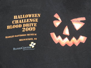 USA古着プリントTシャツM黒ハロウィンBLOOD DRIVE片面綿100極上