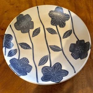 砥部焼 陶彩窯 平皿(大) 花柄