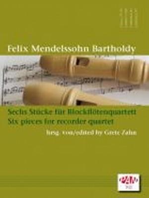 メンデルスゾーン:6つの小品/リコーダー四重奏