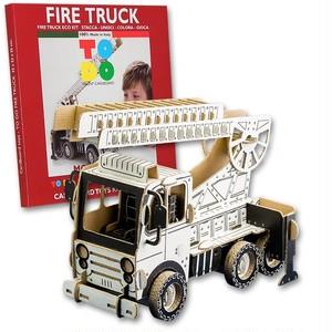 TODO 消防車 組み立てる 知育玩具 イタリア製