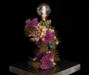 Protea red&purple lamp