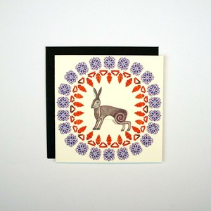 Mini Card - Spirograph Hare