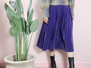 60's purple velour skirt