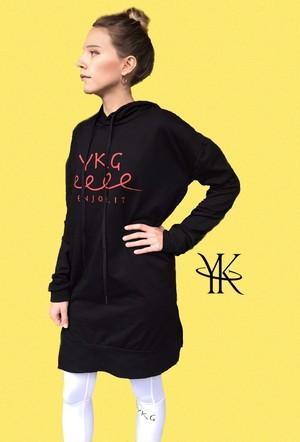 【YKG】フード付きパーカー【ブラック】【新作】イタリアンウェア【送料無料】《W》