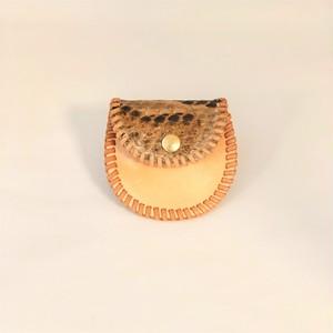 【送料無料 値下げしました!】蛇革のコインケース ミニ ベージュ
