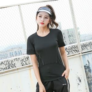 【フィットネスウェア】絶対細く見え合わせやすいシンプルカジュアルTシャツ21651560