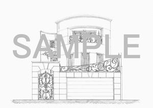 新規平面プラン・外観パース作成依頼の着手金(手描きパースバージョン)