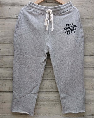 13th Avenue Social Club 3/4 sweat pants co;.gry