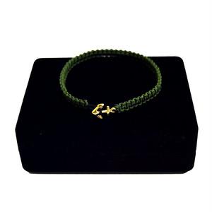 【無料ギフト包装/送料無料/限定】K18 Gold Anchor Bracelet / Anklet Military【品番 17S2010】