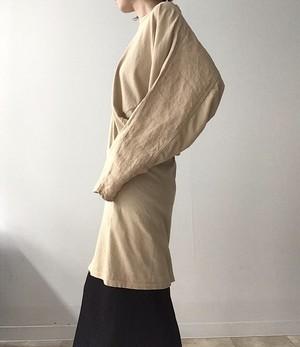 Bassike/ asymmetry long sleeve dress