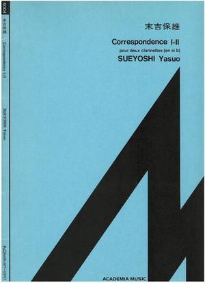 A01i39 Correspondence I-II(Two Clarinetto/Y. SUEYOSHI /Full Score)