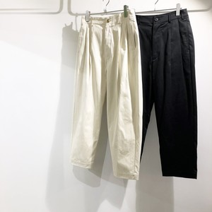 VOAAOV 【ヴォアーブ】 Cotton wide tapered pants