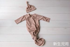 新生児【ベージュ】0-3ヶ月サイズ(約2,500g-5,500g対応)