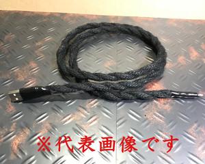 (iPhone用1m/黒)麻ロープの充電ケーブル
