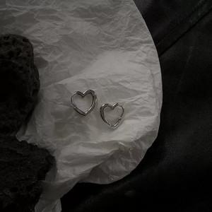 heart ring earrings(gold / silver)