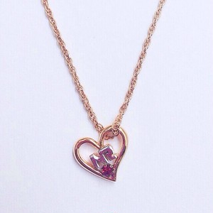 """NINA RICCI"" heart necklace[n-66]"