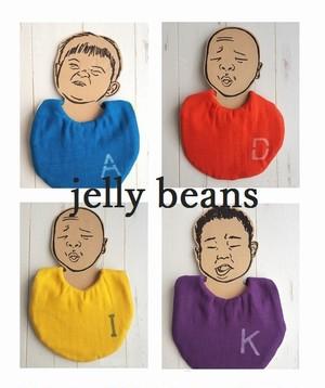 【オーダー】【スナップボタンタイプ】イニシャル入り Jelly beans/スタイ