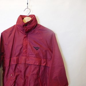 PONY 90's Nylon Shell Half Zipup Pullover Jacket  Dark red size S