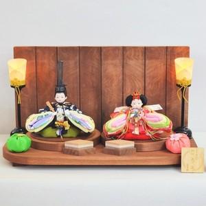 手まり雛 ころろ 胡桃 雛人形/親王飾り/おひなさま/ひなまつり/節句/柿渋/美濃和紙