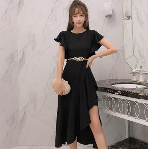 【dress】セクシー着痩せ不規則デートワンピース27044316