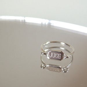 juge plate ring (c/# silver)