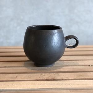 小代焼一先窯 黒釉 マグカップ