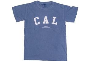 "【""CAL"" vintage T-shirt】/ navy"