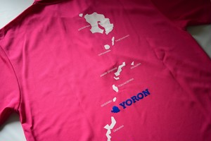 ヨロン島ポロシャツホットピンク