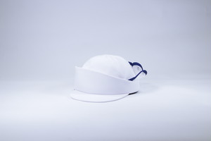 Cocks cap/white x white x blue