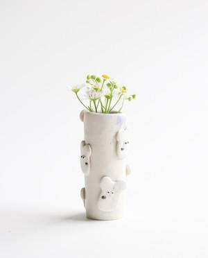ワンコロ筒なフラワーベース 花瓶