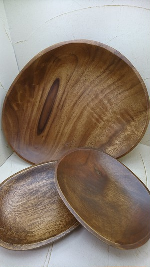 【SP142】 WOOD TRAY OVAL