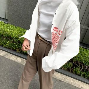 リフレクターシンプルシャツ(ホワイト・ブラック)|ユニセックス 英字 ロゴ