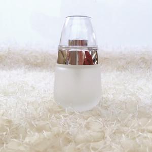 ガラス製ポンプ容器(シルバー)