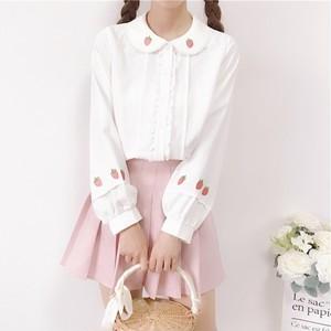 【トップス】日系ラウンドカラースウィートかわいいシャツ