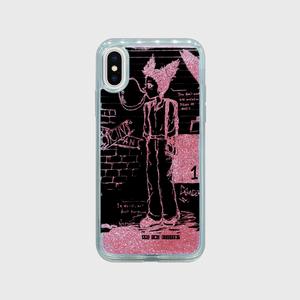iPhoneケース グリッター▶オリジナルキャラクター スト系女子