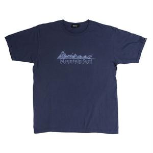 後染めプリントTシャツ:ネイビー
