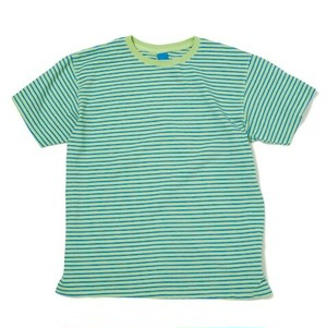 Good On / グッドオン | S/S BORDER TEE - Lime/Royal