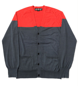 Bicolor V-Neck Knit Cardigan bal【バル】