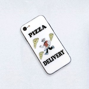 PIZZA  DELIVERY ガラススマホケース