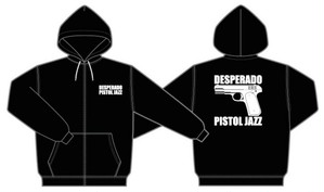 PISTOL JAZZ/DESPERADO ZIP UP HOODIE 9,3onz col.blk