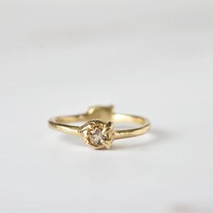 2-way ring (スモーキークオーツ×ゴールド)