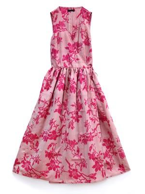 CLAUDIA WRAP DRESS - malaya garnet