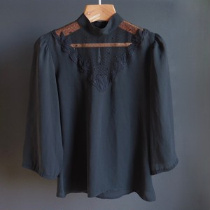 lace-detailed blouse