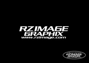 Rz Image-Graphix Original Logo ステッカー(白)
