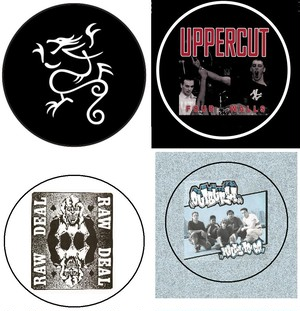 """Sick of it all (dragon) / Uppercut / Raw deal / Outburst 1"""" pin button"""
