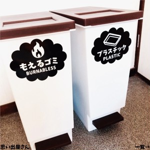 【ゴミラベル・ゴミシール】もくもく!ゴミ分別ステッカーシール【インテリア・DIY】